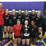 Volleyball places 2nd