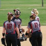 Softball wins 1st round section game