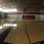 Gym Floor resurfaced.  Closed until Monday