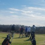Boys Golf finally take to the course