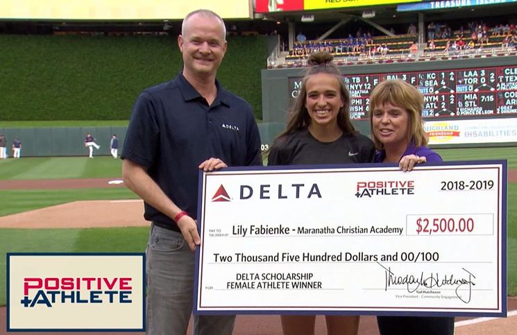 MCA Athletes Honored at Twins Game
