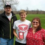 Aaron Honored on Senior Night