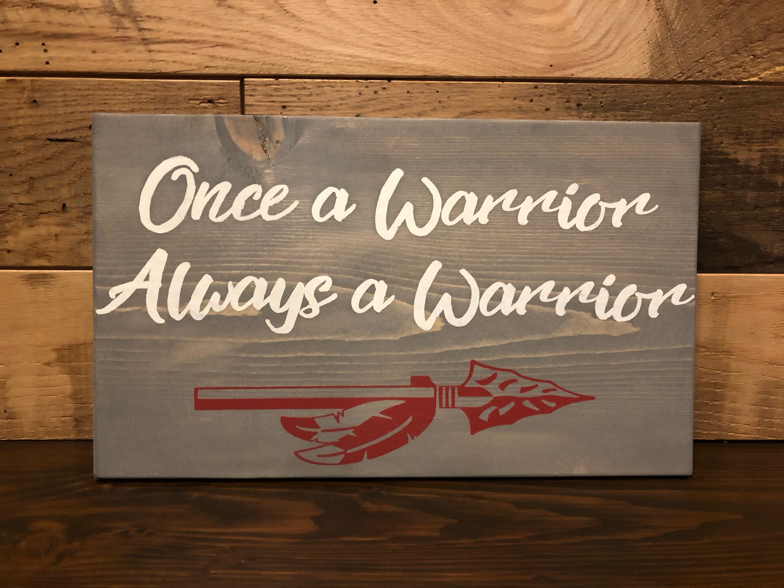 Limited Edition Once a Warrior…Always a Warrior Sign