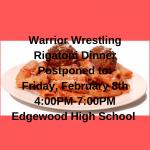 Wrestling Rigatoni Dinner Rescheduled for 2/8