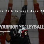 2019 Lady Warrior Volleyball Camp Grades 3-6