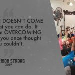 Warrior Strong… Only 4 Weeks Remain. GET THERE!