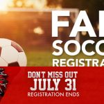 Fall Soccer Registration Closes Wednesday at NOON!