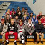Boys Varsity Wrestling finishes 1st place at Poland Duals