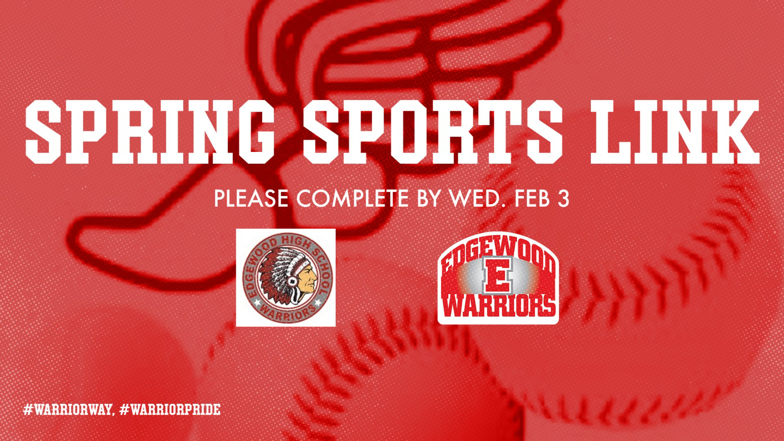 Attention Spring Sports Athletes…. Please Complete