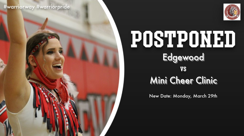 Edgewood Mini Cheer Clinic Postponed