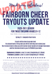 Updated Cheer Tryout Information