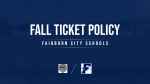 Fairborn Home Game Ticket Policies