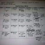 Sept Tennis Schedule