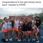 Lady Eddies tennis team qualifies for state tournament