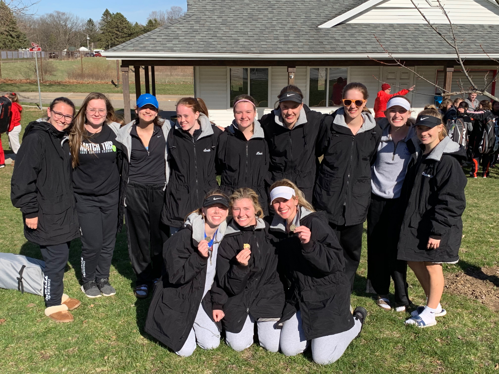 Girls Tennis places 2nd at Marshall Invitational