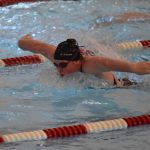 Women's Swimming Beats Harper