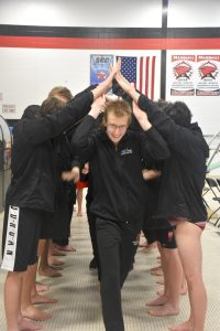 Senior night Boys Varsity Swim and Dive Team
