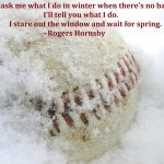 Baseball Workout Cancelled for Saturday February 10th