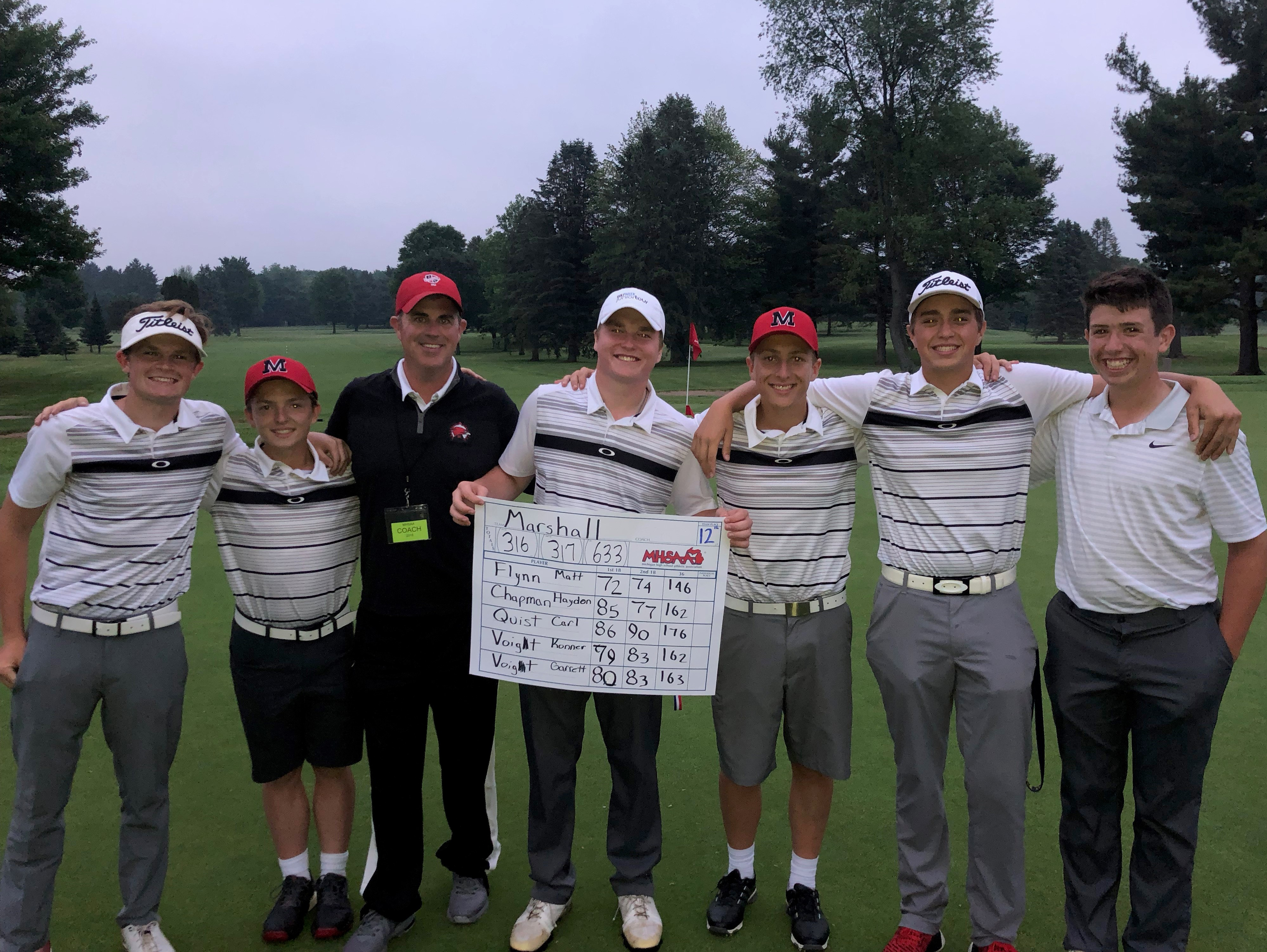 Marshall Golfers Finish 12th in the State