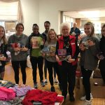 Girls Cross Country Helping for the Holidays!