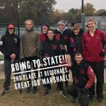 Marshall Boys Cross Country Qualifies for the State Meet