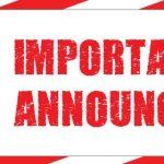 Athletic Department Announcement 3/13/20