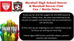 Soccer Can Drive Has Ended!  Thank you!