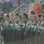 Softball makes play-offs, runs into defending state champs