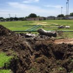 Trimble Tech's artificial turf gets started.