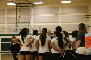 Sub-varsity volleyball vs Crowley