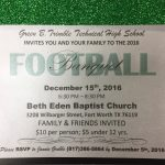 Football/Volleyball Banquet December 15th, 2016