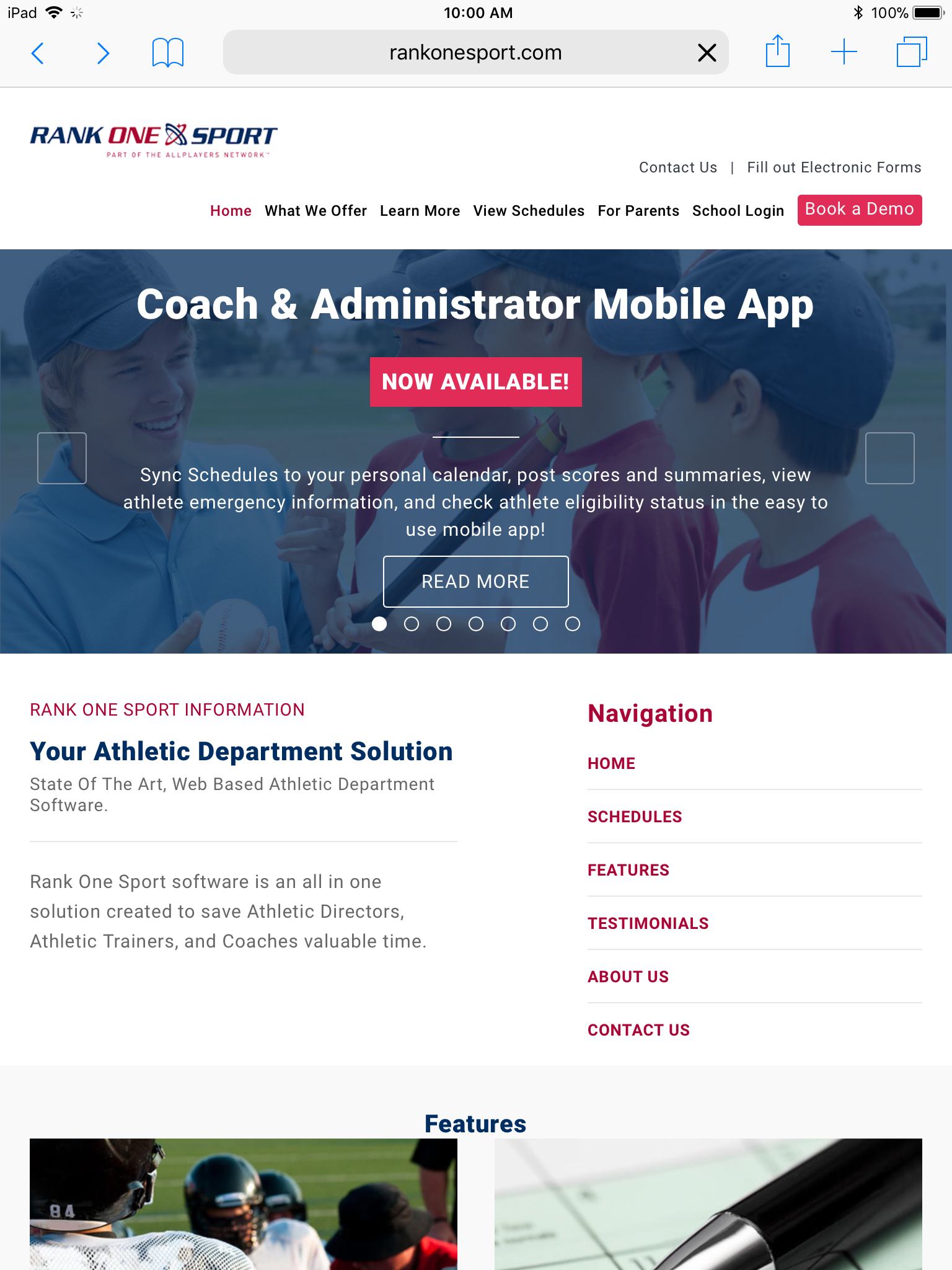 Electronic forms online and available to be filled out for the 2018-2019 school year at Rankonesport.com, step by step directions explained.