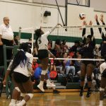Volleyball looks strong in 3 set victory of Arlington Sam Houston, remain in 3rd place in District 4-6A!