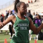Kenondra Davis and the rest of the Trimble Tech Track Team looking to advance to the Area Track Meet in 4-6A District Meet at Sam Houston High School