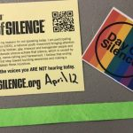 Trimble Tech's GSA Club joins other schools in support of the Day of Silence, on April 12th.