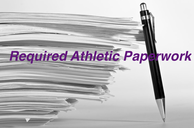 Required athletic paperwork is live now, with a few exceptions, all forms must be filled out prior to participation.