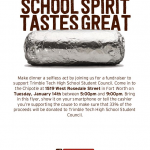 Get some grub and support Trimble Tech Student Council January 14th, 5:00-9:00 pm!