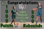 Congratulations to Jada Hollie on two milestones here at Tech, 1000 points and 500 rebounds!