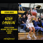Congratulations Nina Gannon – NJSIAA/NGAIAW National Girls and Women in Sports Award