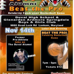 The 2015 Alumni Beat The Pros Fundraiser 11/14/15 7:00 – 9:00 pm Tickets On Sale Now