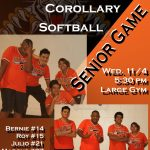 Corollary Softball Senior Night! 11/4 @ 5:30pm