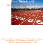 INDOOR TRACK INFORMATION…