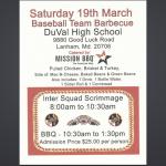 2016 DuVal BBQ Fundraiser!