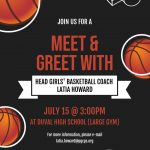 Meet & Greet with Coach Howard (7/15) @ 3PM