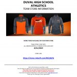 DUVAL ATHLETICS FALL GEAR TEAM SHOP NOW OPEN – CLOSES 8/21