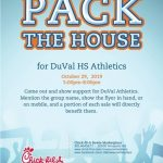 Pack the House (Chick-Fil-A Spirit Night)
