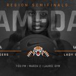 Girls' Basketball Region Semifinals @ Laurel (3/2) 7:00PM