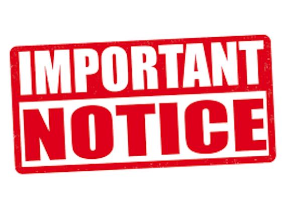 Important Notice Regarding Athletics