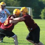 First Day of Football Practice 2012