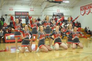 Cheerleaders Halftime Dance